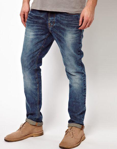 nudie jeans jeans thin finn skinny fit genuine love in. Black Bedroom Furniture Sets. Home Design Ideas