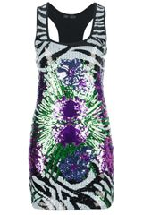 Philipp Plein Sequin Tank Dress - Lyst