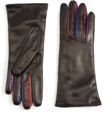 Portolano Color Accent Leather Gloves - Lyst