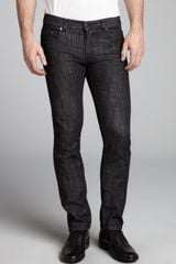 Prada Black Cotton Denim Straight Leg Jeans - Lyst