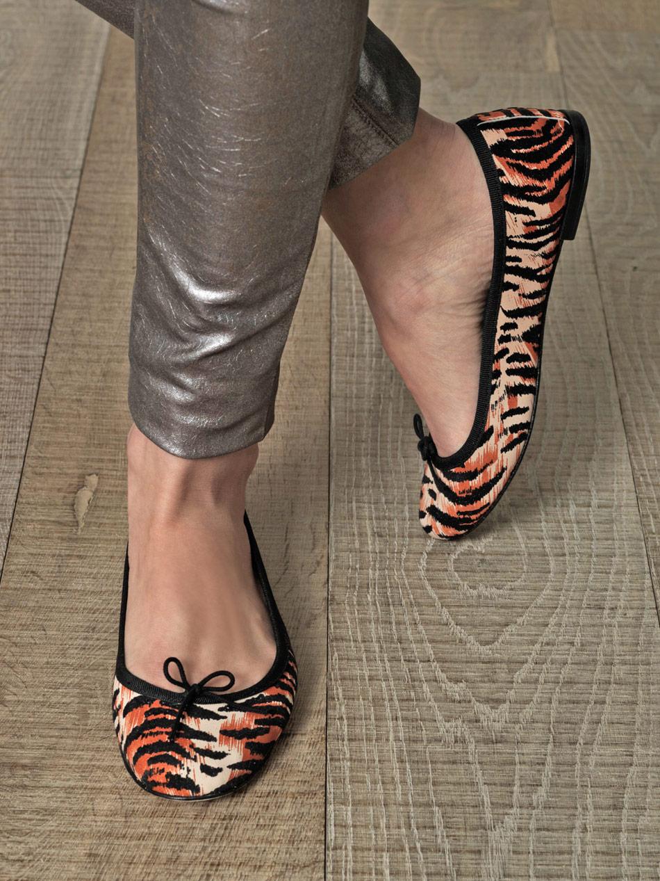 Lyst Repetto Tigerprint Flat Shoes