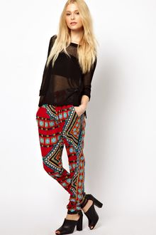 River Island Printed Trousers - Lyst