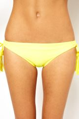 Seafolly Exclusive To Asos Jazz Tie Side Bikini Pant in Yellow - Lyst