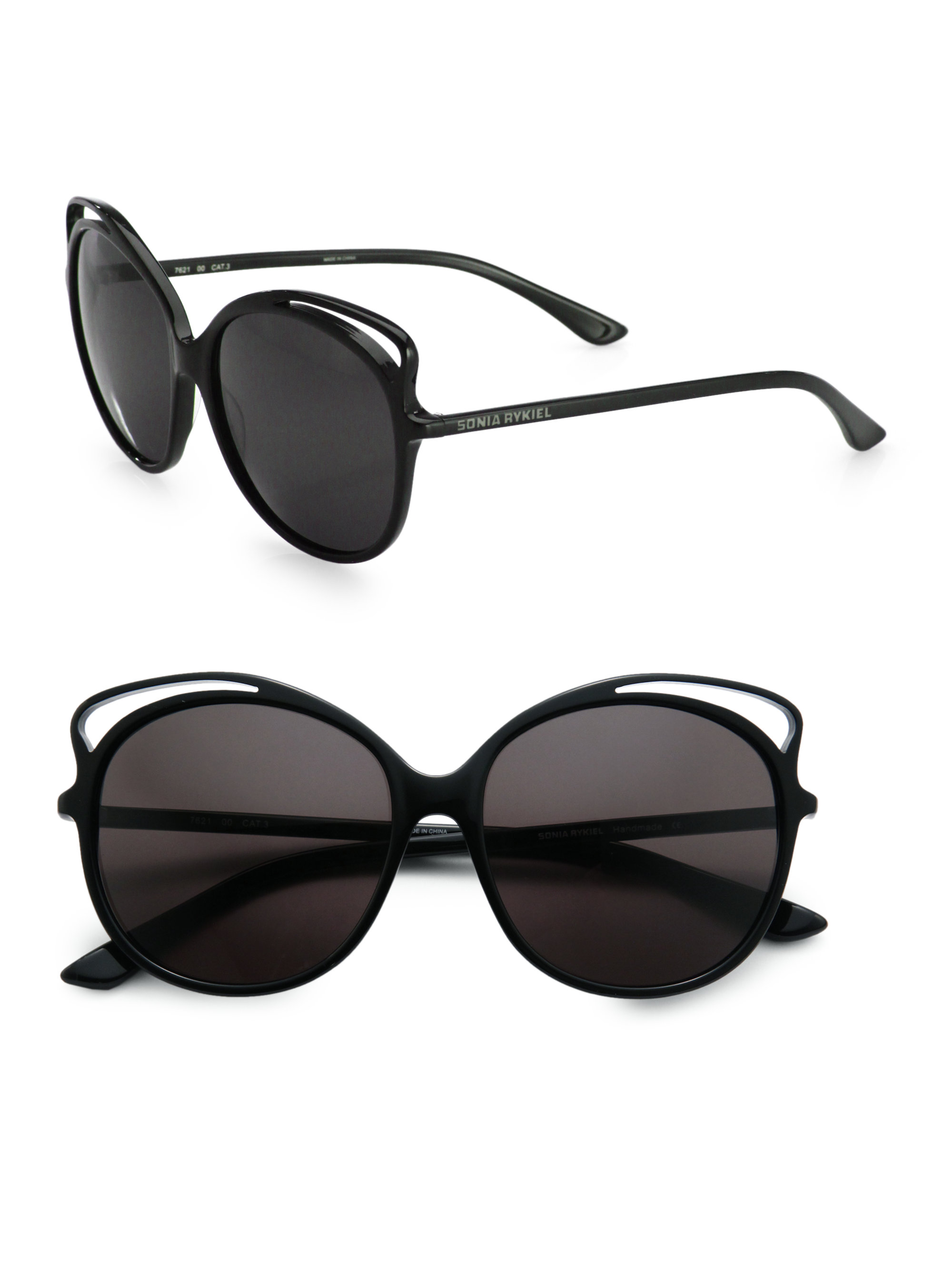Sunglasses Cutout  sonia rykiel oversized catseye cutout acetate sunglasses in black