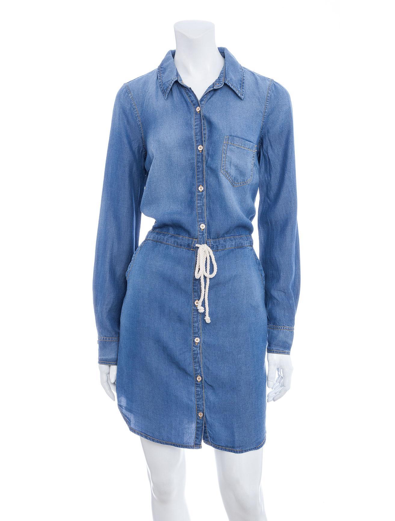 Splendid chambray shirtdress in blue denim lyst for Chambray jeans
