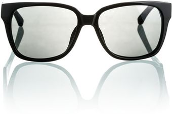 The Row The Row Black Wafarer Frames Blackblack Leather - Lyst