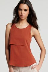 Theory Tank Sondray Silk Crepe - Lyst