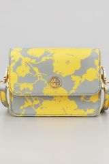 Tory Burch Robinson Floral Print Mini Crossbody Bag - Lyst