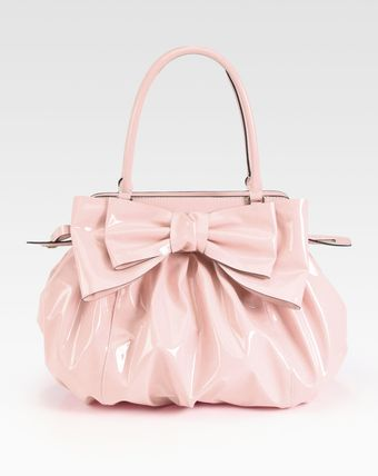 Valentino Lacca Patent Leather Top Handle Bag - Lyst