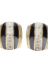 Valentino Vintage Vintage Molded Earrings - Lyst
