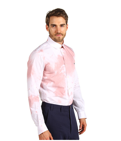 Vivienne westwood wine stain poplin shirt in pink for men for Stain out of white shirt