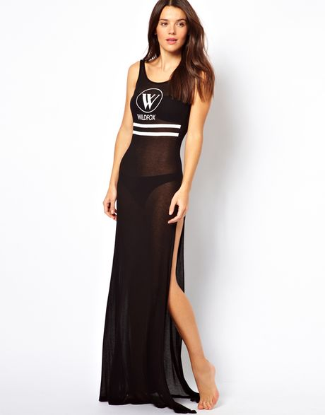 Wildfox The Yatch Club Beach Maxi Dress in Black (night)