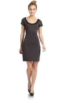 Z Spoke by Zac Posen Bondage Frayed Neck Seamed Dress - Lyst