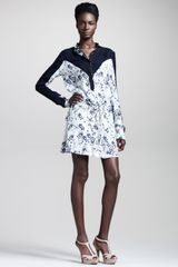 A.L.C. Sophia Blossom Print Silk Dress - Lyst