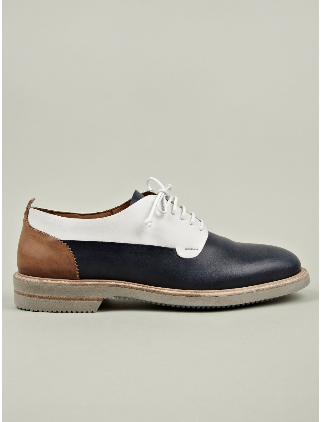 Alexander Mcqueen Mens Minnesota Leather Saddle Shoe in ...