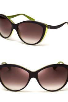 Alexander McQueen Side Wave Cateye Sunglasses - Lyst