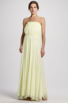 Alice + Olivia Chase Strapless Silk Maxi Dress - Lyst