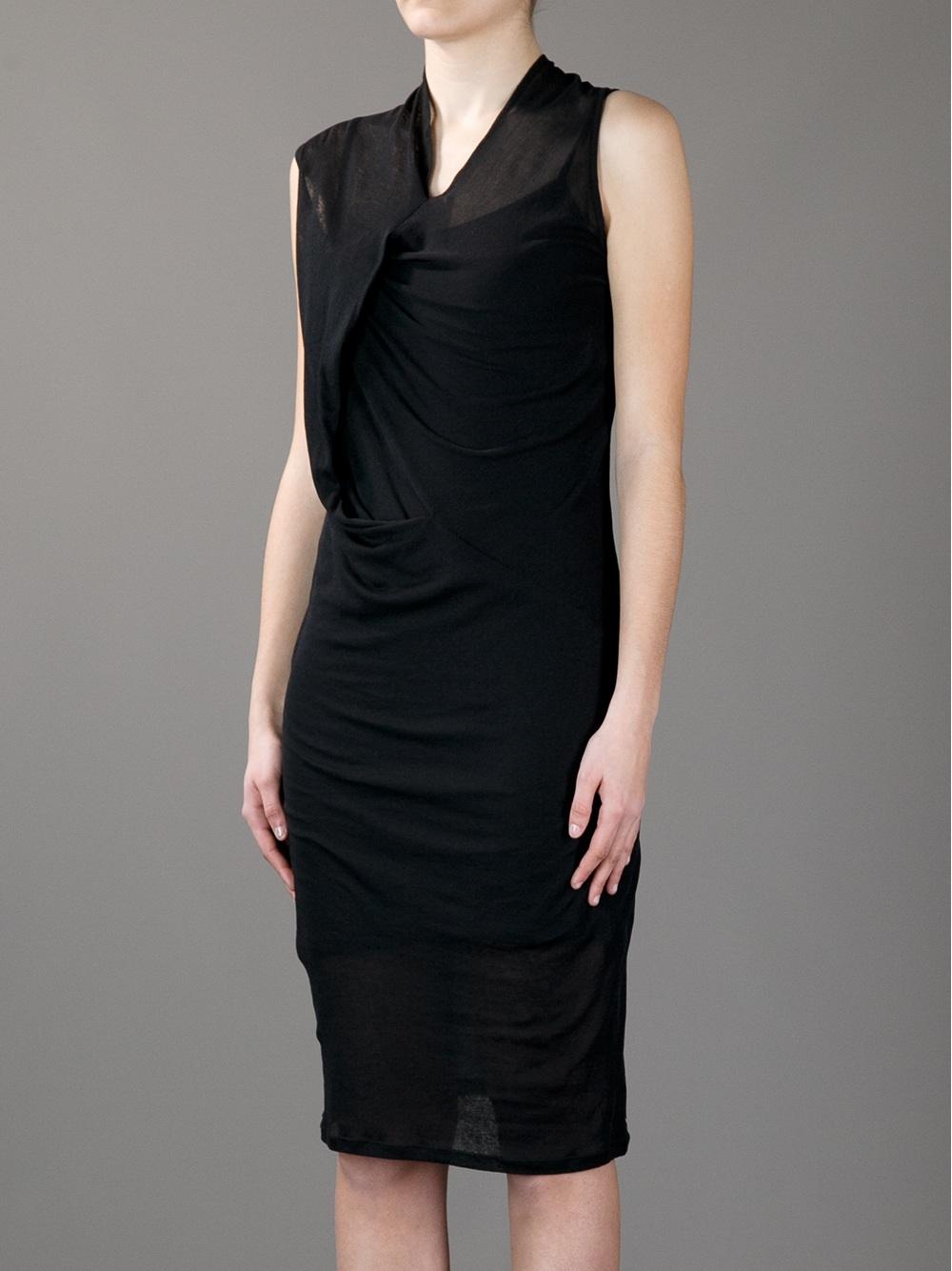draped shift dress - Black Ann Demeulemeester 8M9ZOAjAu