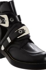 Balenciaga Buckle Strap Ankle Boot