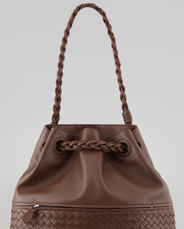 Lyst - Bottega Veneta Julie Veneta Shoulder Bag in Brown 348113d8d013a