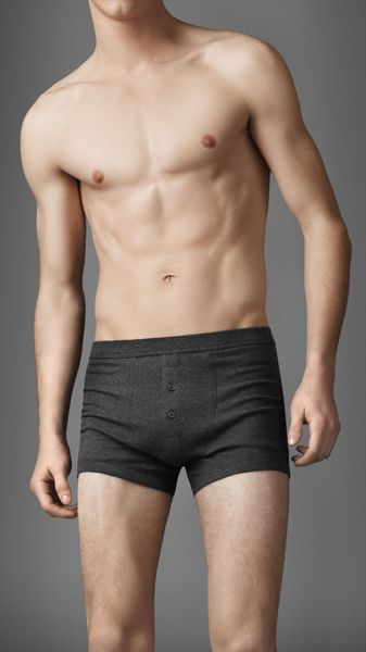 Burberry Cotton Blend Ribbed Boxer Briefs - Lyst