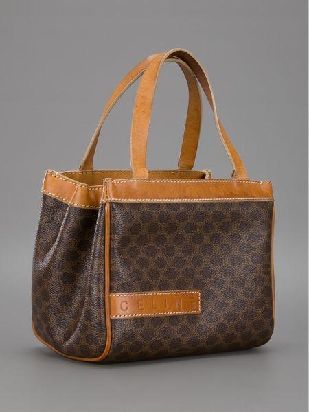 Monogram Tote Bags: Celine Brown Monogram Handbags