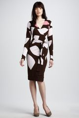 Diane Von Furstenberg Richley Intarsia-Knit Wrap Dress - Lyst