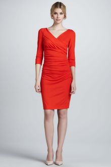 Diane Von Furstenberg Bentley Three-Quarter-Sleeve Ruched Dress - Lyst