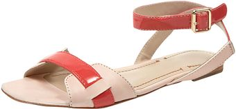 Elizabeth And James Twotone Anklewrap Sandals - Lyst