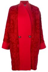 Gianni Versace Vintage Double Breasted Coat - Lyst