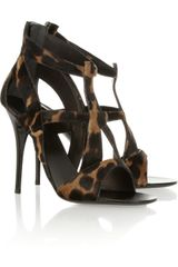 Giuseppe Zanotti Leopardprint Calf Hair Sandals - Lyst