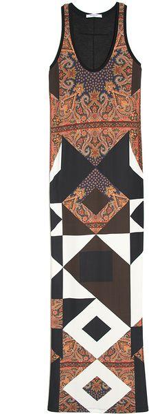 Givenchy Multi Print Maxi Dress in Multicolor (multi)