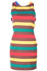 Jc De Castelbajac Vintage Striped Dress - Lyst