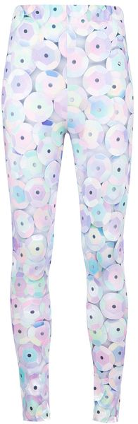 Jeremy Scott Sequin Print Leggings - Lyst