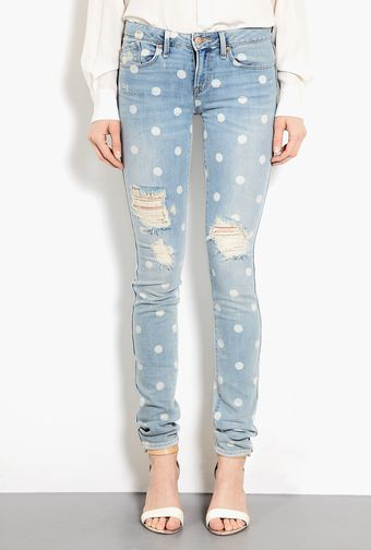 Marc By Marc Jacobs Rolled Slim Distressed Jeans - Lyst