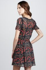 Marc By Marc Jacobs Geo Maze Printed ALine Dress in Red (shadow grey multi) - Lyst
