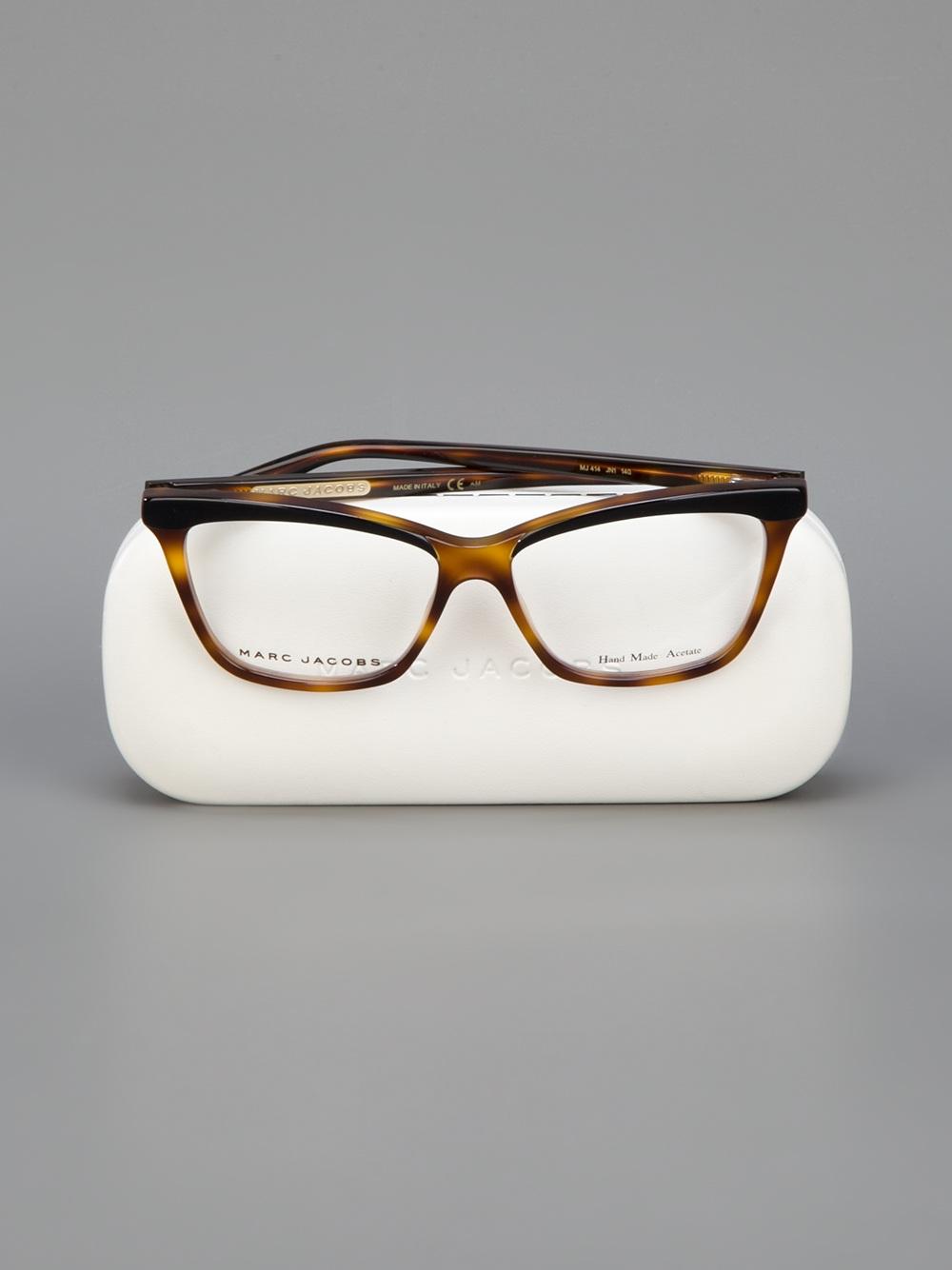 Lyst - Marc Jacobs Tortoise Shell Wayfarer Glasses in Brown