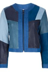MiH Jeans Paneled Leather Jacket