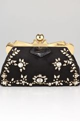 Miu Miu Embellished Framed Clutch Bag - Lyst