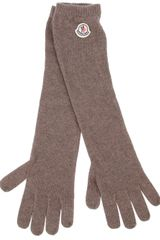 Moncler Knitted Long Gloves - Lyst
