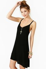 Nasty Gal Lace Up Dress Black - Lyst