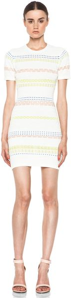 Opening Ceremony Hollis Stripe Dress in Ivory Combo - Lyst