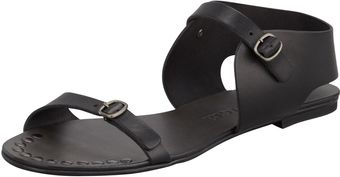 Pedro Garcia Llian Flat Leather Sandal Black - Lyst