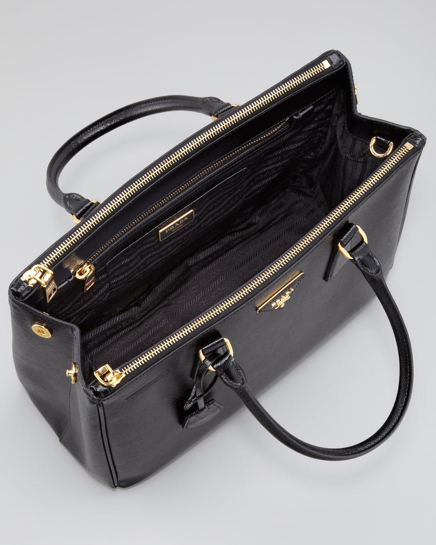 Prada Saffiano Executive Small Tote Bag Nero in Black (nero) | Lyst
