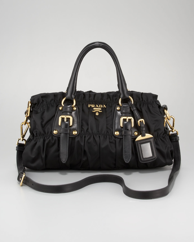 e713cf1e78e9 ... order closeout lyst prada tessuto gaufre satchel bag in black c6004  d498b 6e2b6 05fb0