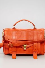 Proenza Schouler Ps1 Medium Satchel Bag Orange - Lyst