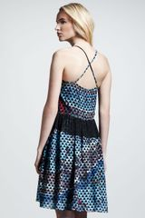 Proenza Schouler Inted Silk Cami Dress in Blue (pool collage prt) - Lyst