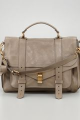 Proenza Schouler Large Satchel Bag Smoke - Lyst