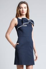 RED Valentino Bow Front Sheath Dress  - Lyst