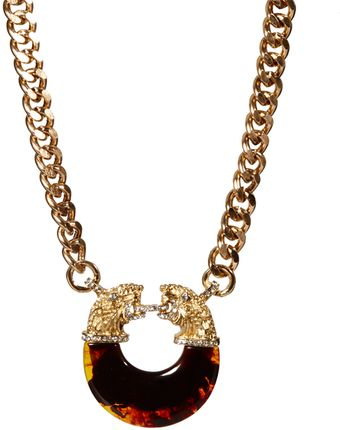 River Island Vintage Inspired Tiger Chunky Chain Short Necklace - Lyst